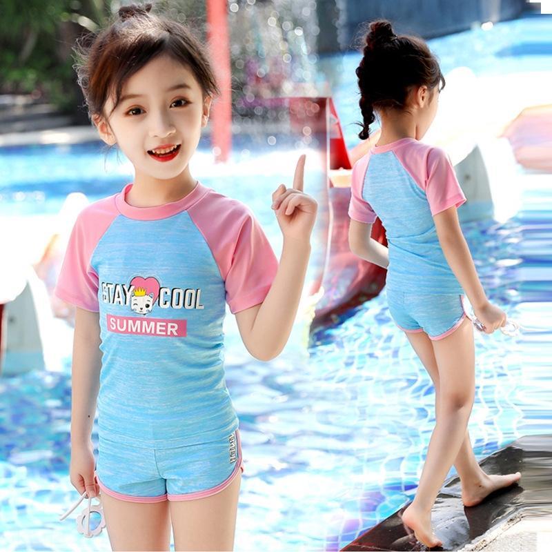 spaccatura medio bambina sport delle donne Opgzj bambini e costume da bagno grandi bambini svegli del costume da bagno principessa Hot Spring Girl