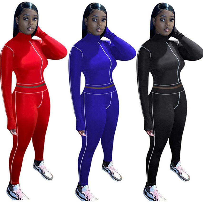 Les femmes de sport de couleur unie Ensemble 2 pièces tenues pantalon hoodie de-2XL Chemise Legging Survêtement Automne Hiver Vêtements Ruuning Jogger Costume 3720