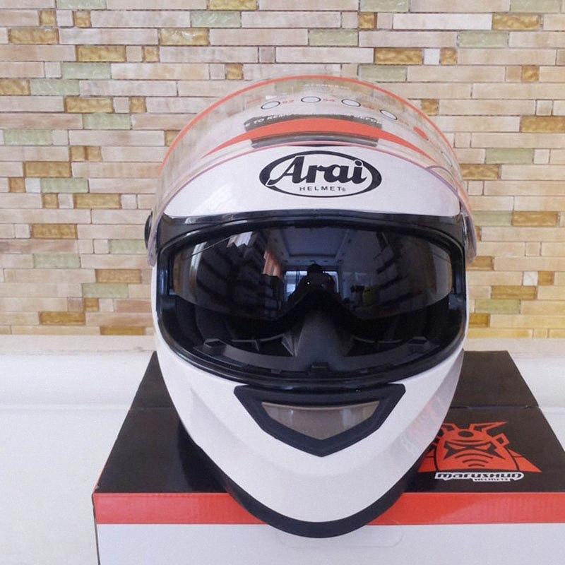 Cálido Doble Visera de la cara llena Cascos de moto confortable Capacete Casco de alta calidad invierno que compite con casco de la motocicleta de la calle barato Bik Y32V #