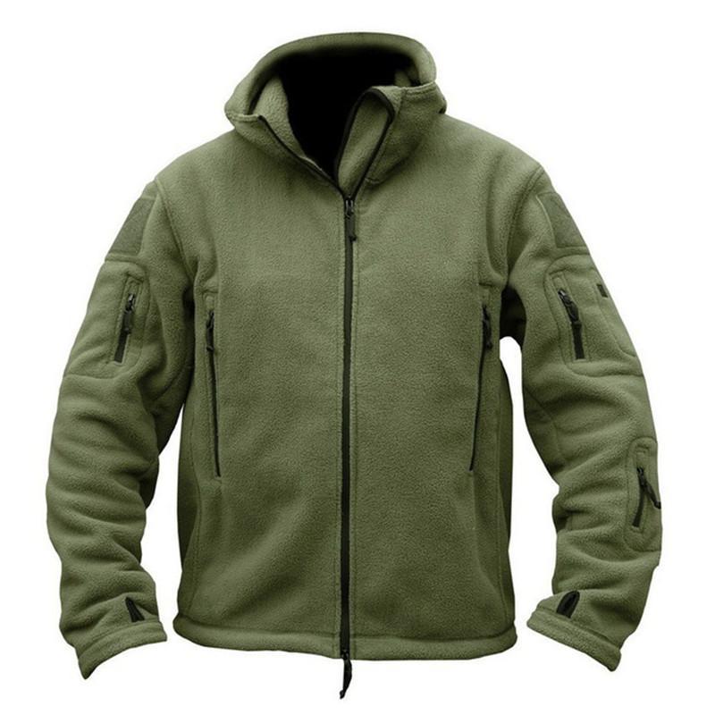 Veste Softshell Hommes Toison tactique à capuchon manteau thermique camping en plein air multi-poche polaire vêtements de plein air vêtements nouvelle armée