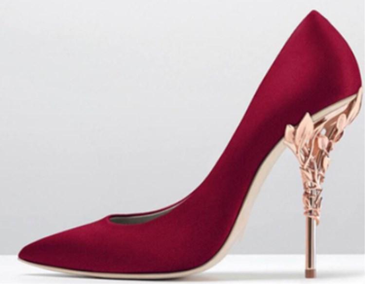 مصمم أزياء أحذية الزفاف وصمة عار الحرير عدن كعوب أحذية لحذاء الزفاف مساء الحفلة الراقصة حزب