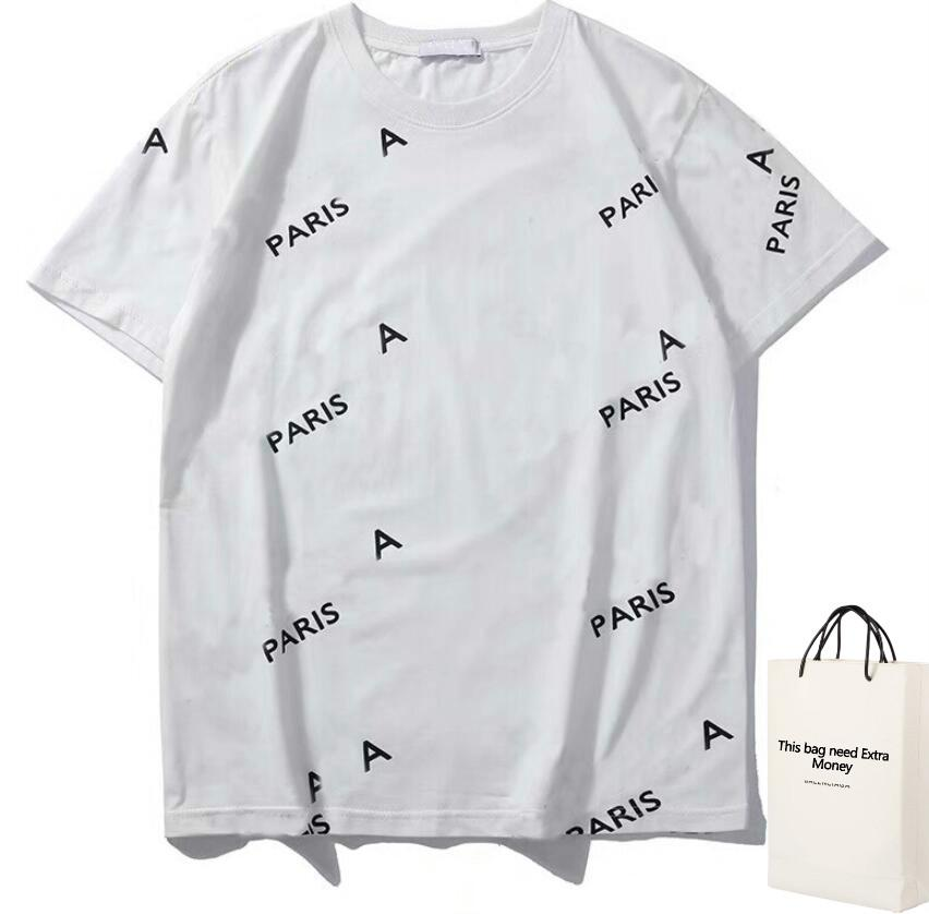 20SS Letters Printed Designer T Shirt Men Women Couple Fashion Homme Tee Casual Summer Casual Clothing with Wheat Ears Printing S-2XL