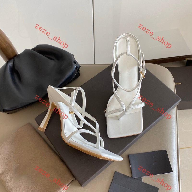 Bottega Veneta high heel sandals BV 2020 مجموعة أصل السماء الزرقاء أنيقة V امتداد حزام ماركا صندل كعوب أحذية الوحيد المستقر جلد طبيعي مع كعوب فريدة من نوعها