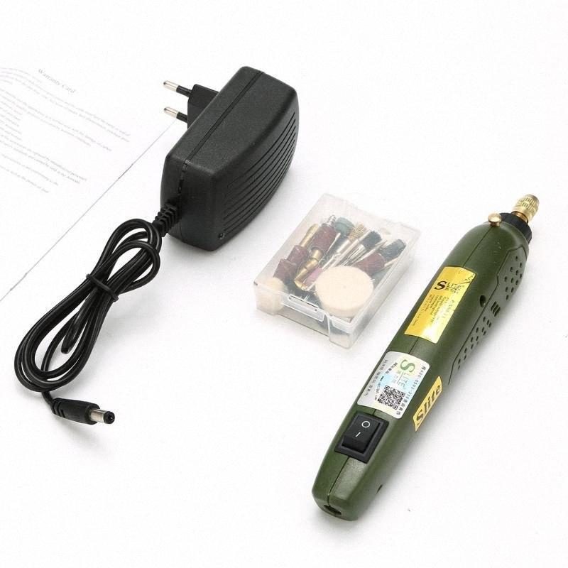 Mini Accessoires de perceuse électrique broyant 12V DC Grinder électrique Outil de meulage de polissage Drilling Gravure Set Uux8 #