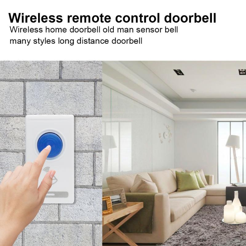 Smart Télécommande sans fil Sonnette Accueil Hôtel Sécurité électrique Porte Anneau de sécurité pratique Accessaries Pièces