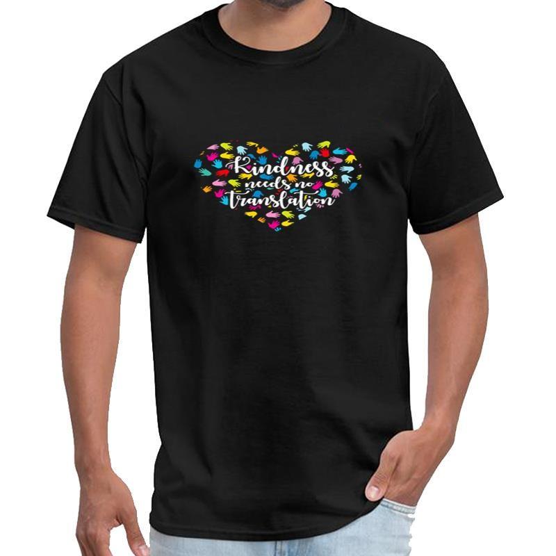 Personality Knidness braucht keine Übersetzung der Gebärdensprache salah T-Shirt Frauen-T-Shirt Anime-T-Shirt der großen Größe s ~ 5xL-stück Pop