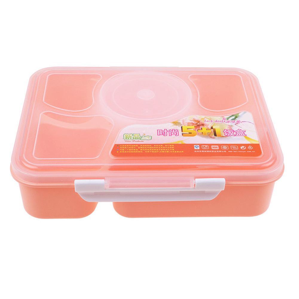 Lunch Box Mikrowelle 5 Fächer mit Suppenschüssel Löffel Bento Box-Nahrungsmittelbehälter