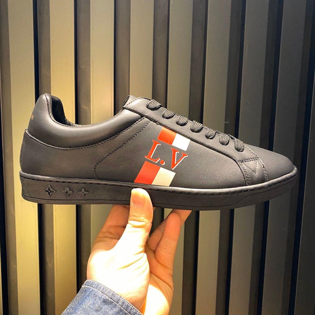 Uomini di modo superiore di lusso Scarpe con Origine Box casuale del progettista degli uomini di modo scarpe da tennis Flats Shoes Size 38-45