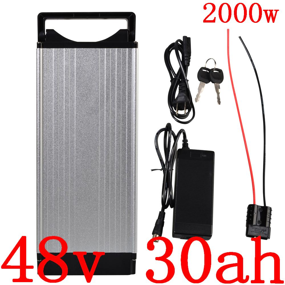 48V 1000W 2000W ebike batería 48v 30Ah bicicleta eléctrica 30AH batería de litio celular LG uso con el cargador 50A BMS + 2A