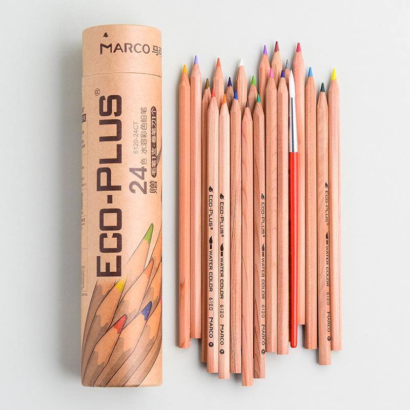 Marco 6100/6120 Öl / Wasserlösliche Farbe hölzerner Bleistift-Anfänger lernt Art Bemal Rohr Verpackung Y200709