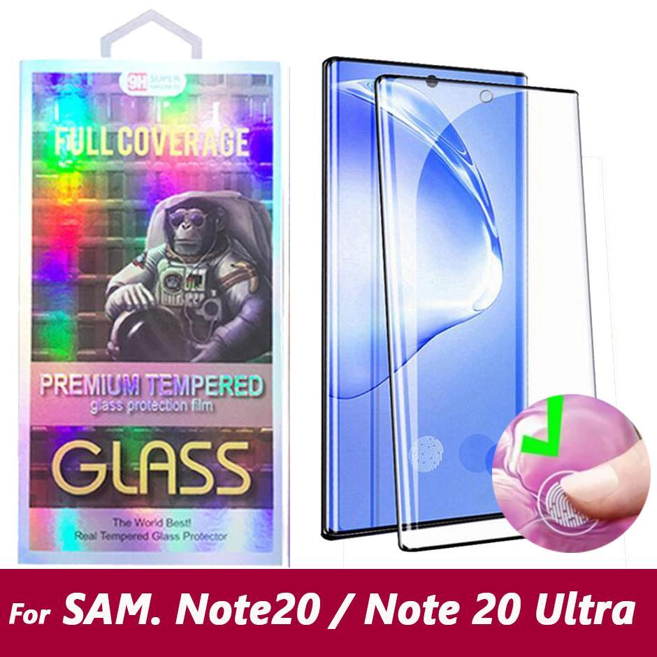 الهاتف 5D منحني حالة دية الزجاج المقسى حامي الشاشة لسامسونج غالاكسي ملاحظة Note20 20 S20 S10 فائق Note10 S9 S8 زائد Note8 Note9