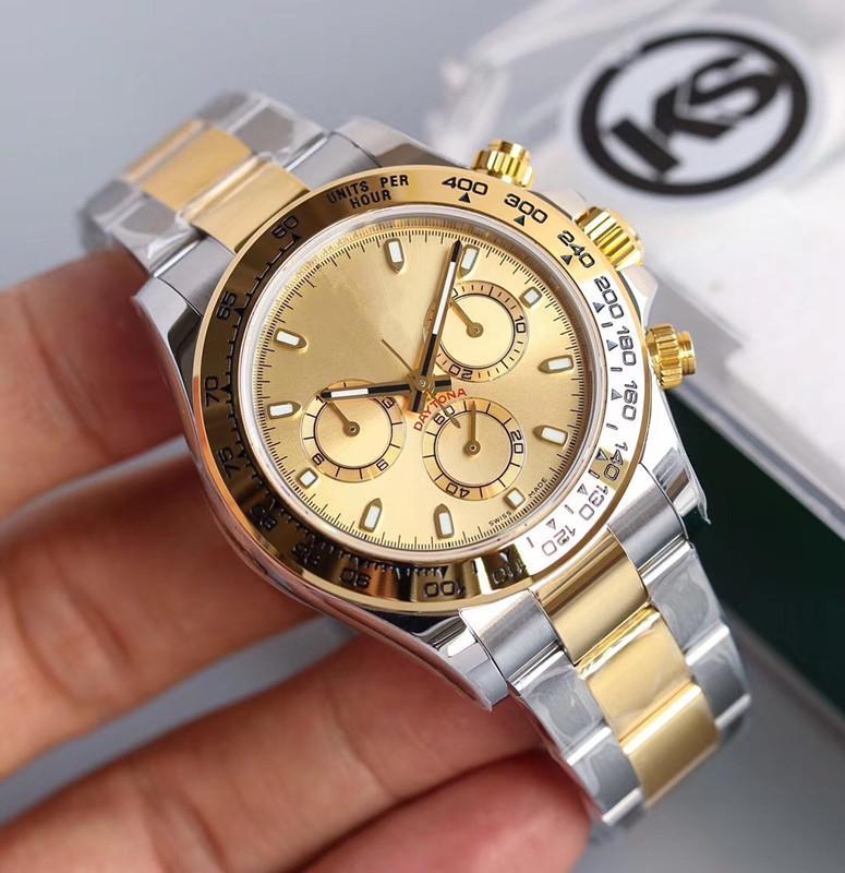 rolex Hommes KS montre de luxe montre 40MM montres automatiques 7750 hommes mouvement reloj de Lujo relojes de Lujo para hombre Montres rolex