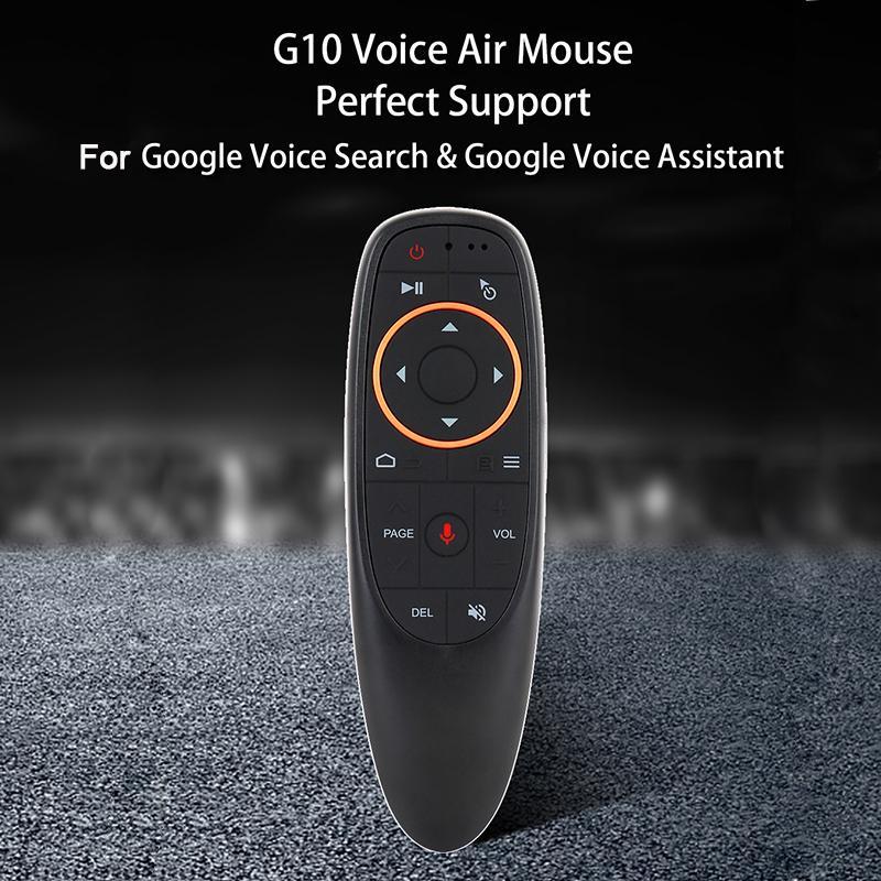 Remoto Controlers Bundwin G10S 2.4GHz Mini Controle Sem Fio Air Mouse para Android TV Caixa com Voz Gyro Sensing Game