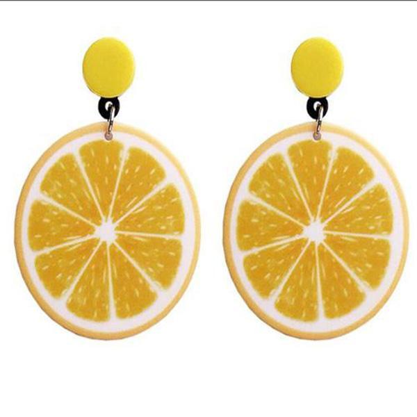 Tranche de citron Boucles d'oreilles cerise oreilles Studs rouge dormeuses fruits Bijoux en verre Cabochon Boucles d'oreilles à la main Livraison gratuite