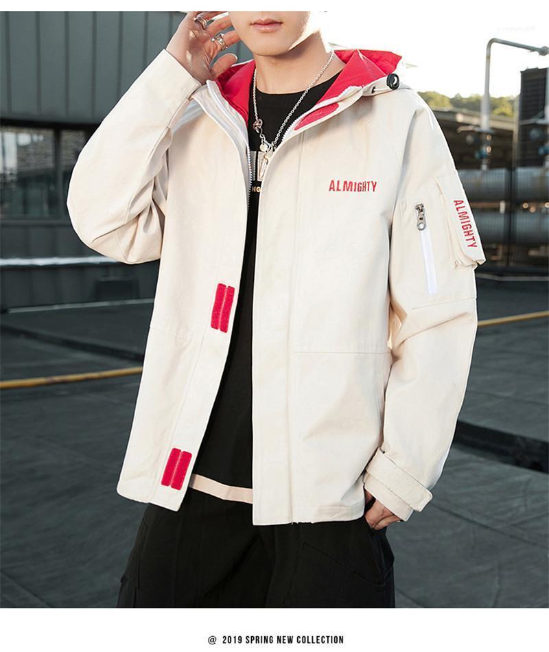 Paket ceketler Mens Tasarımcısı Harf Baskı Uzun Kollu ile Coats Moda Fermuar BF Stil Erkek Giyim Kapşonlu