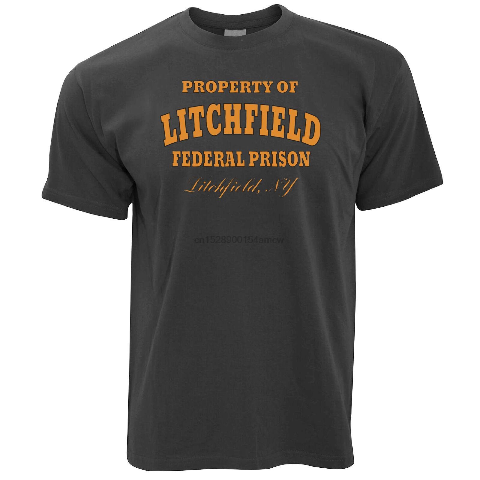Litchfield Federal Cezaevi Cezaevi Portakal Mahkûm Parodi T Gömlek Of Mülkiyet