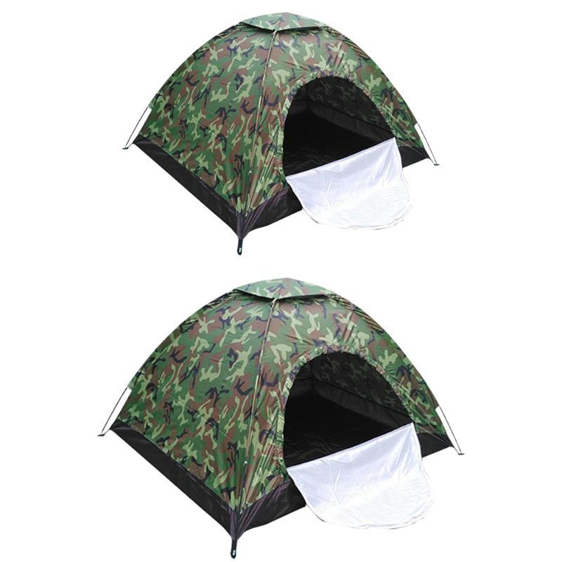 Portable Camouflage Waterproof Automatic Up Tent Sunscreen Rainproof Foldable Outdoor Camping Hiking Hunting Shelter Tent