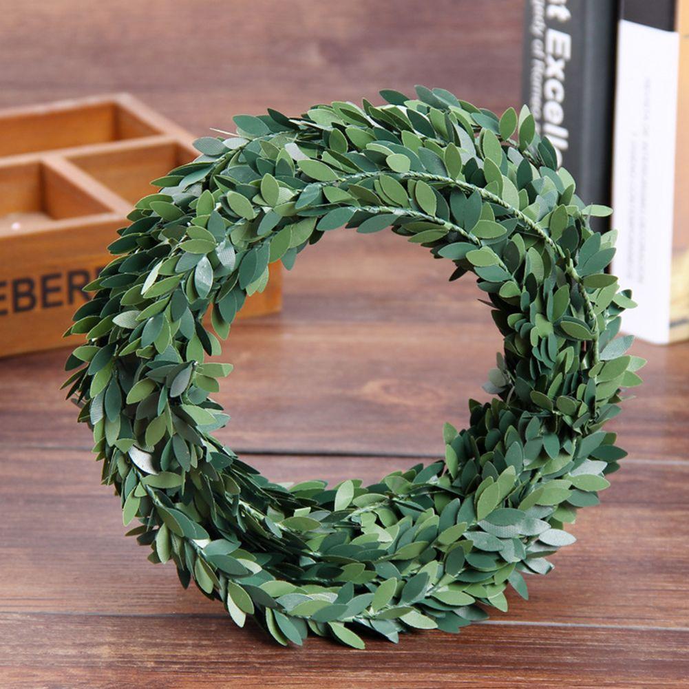 fio de ferro 7.5m Artificial Verde Flor Nylon Folhas Rattan Acessório DIY coroa