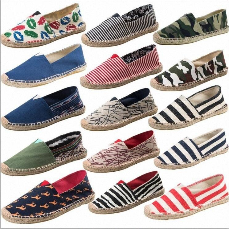Canvas único sapatos de palha tecida Shoes Designer Plano Loafer pescador preguiçoso sapatos da moda casual sapatos Sneaker Outdoor Sports Chaussures WnqG #