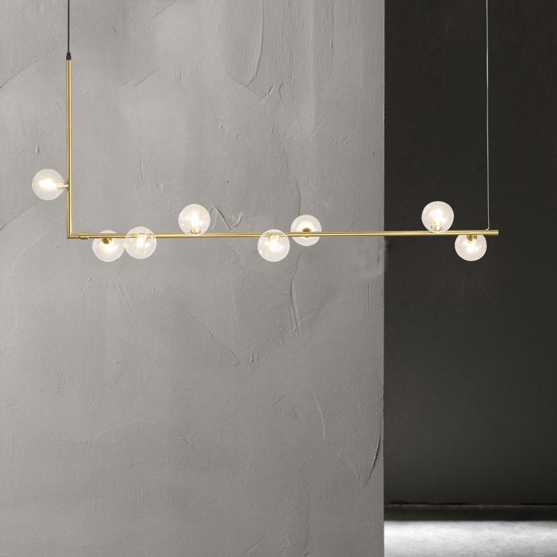 Minimalist Chandelier Lighting Bar Kitchen Dining Room Lounge Lighting Luminaire Led Black Rose Gold Wrought Iron Chandelier