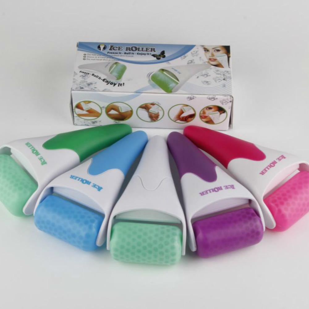 Ice Roller For Face Body Massager Skin Preventing Wrinkles Rodillo De Hielo Skin Cool Derma Tool Plsatic Head Ice Roller Wholesale