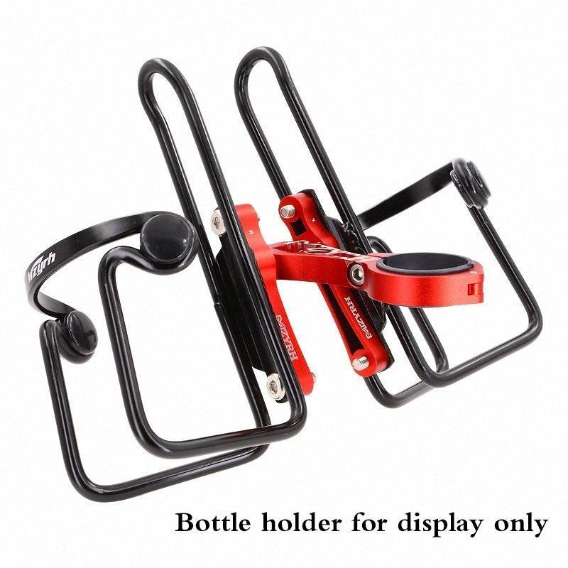 Doppia Bicicletta Bottiglia Adattatore seggiolino gabbia di conversione regolabile del manubrio della bici della bicicletta bollitore accessori di riciclaggio del supporto della sede Post Mount gPOb #