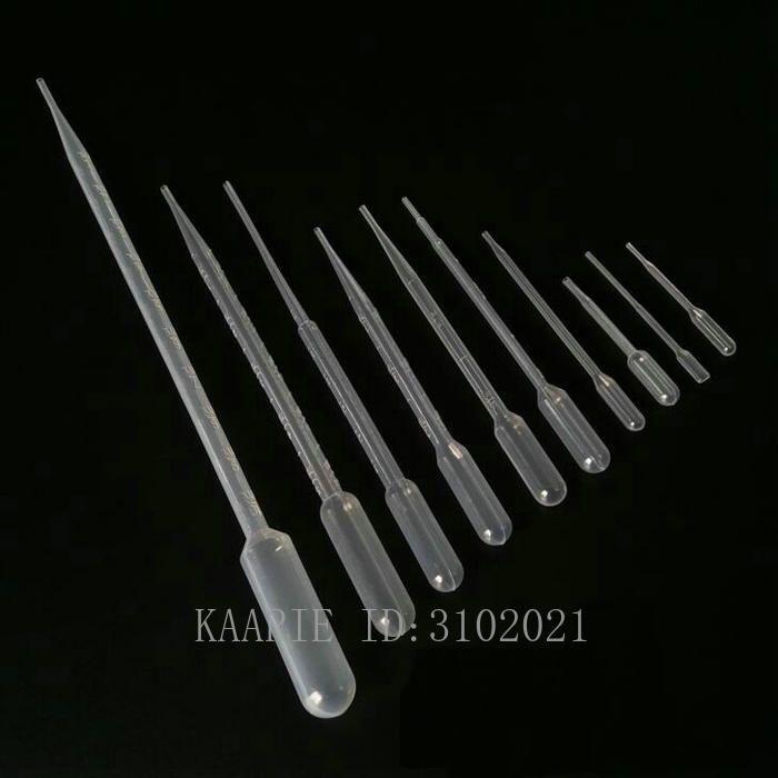 100PCS 0.2 ㎖ / 0.5ML / 1 ㎖ / 2ml를 / 3ML 이동 피펫 일회용 플라스틱 전문 파스퇴르 피펫 점 적기 폴리에틸렌 도구