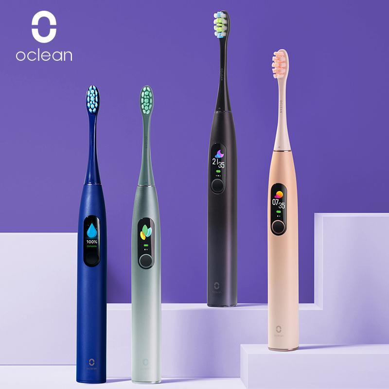 Oclean X برو سونيك فرشاة الأسنان الكهربائية الكبار IPX7 بالموجات فوق الصوتية سريع التلقائي شحن فرشاة الأسنان مع لمسة تنظيف الشاشة الأسنان