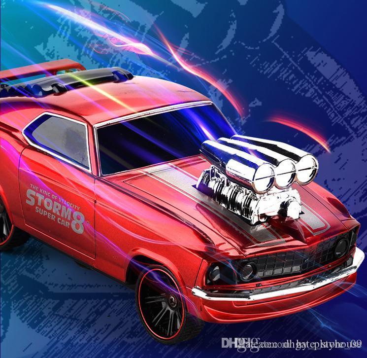 Fernbedienung Stunt-Auto 2.4G RC Drift Light Vehicle Funk elektrisches Fahren Auto Boy Toys 09