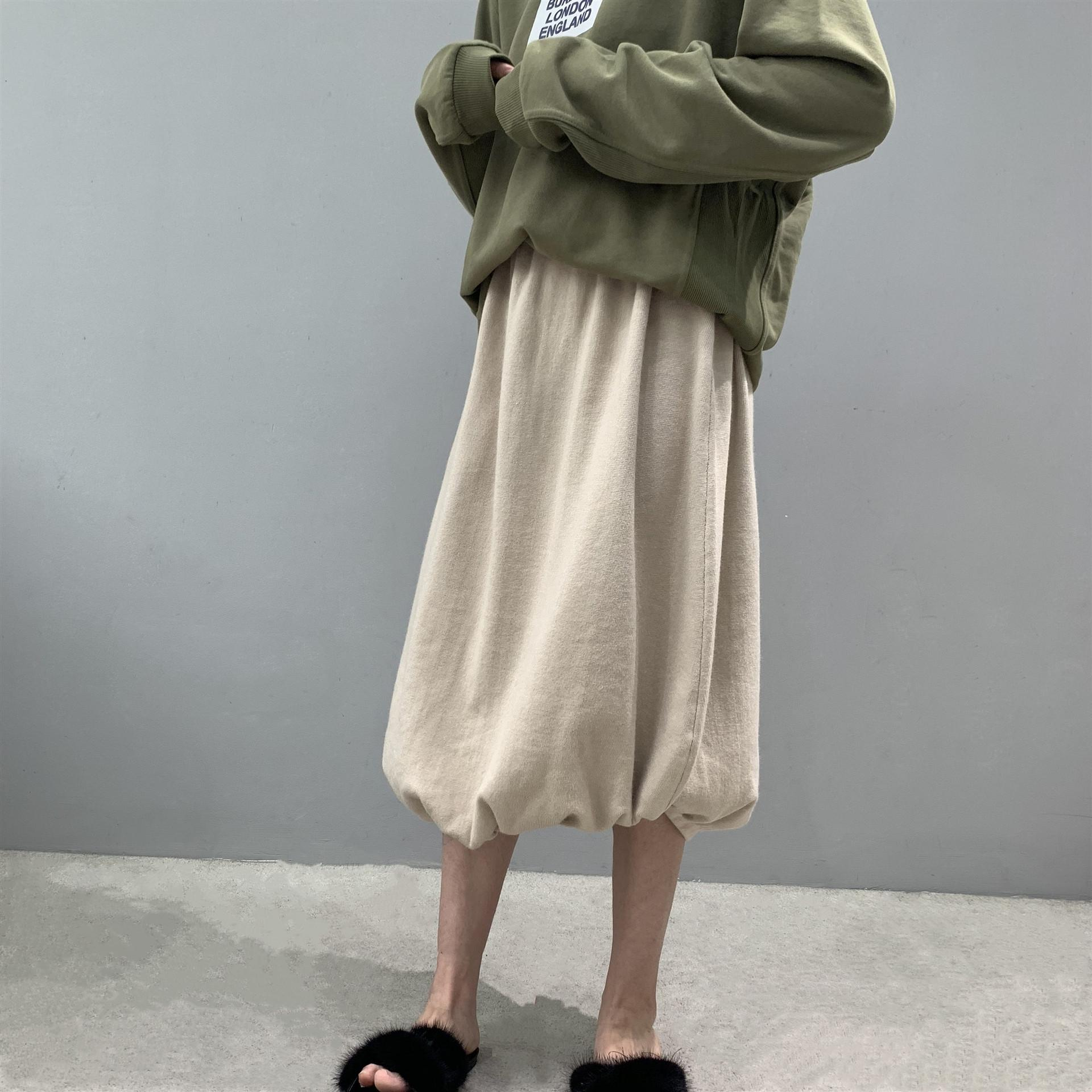 Jia Zhi 8-6625 otoño y el invierno 2020 el perfil de punto de calabaza calabaza mullido esponjoso Pengpeng nicho de falda falda adelgazamiento Pengpeng CsVXw CsVXw