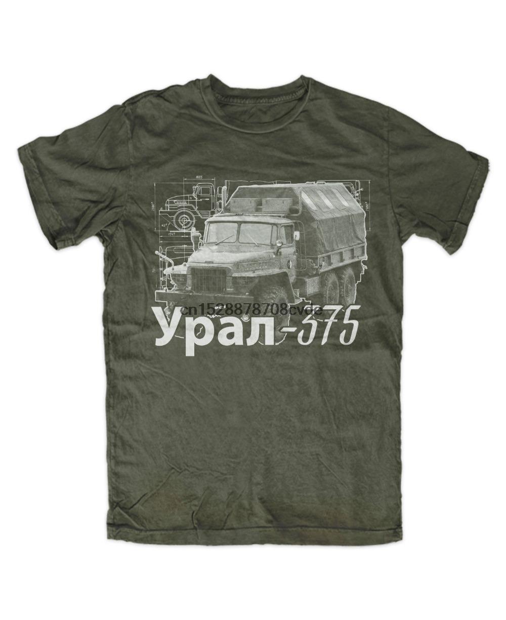 2019 mais novo 375 T-shirt dos homens engraçados URAL OLIV NVA DDR LKW Motiv shirt Offroad Teste T Shirt