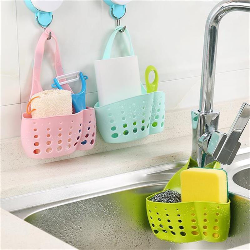 المحمولة سلة أدوات المطبخ شنقا هجرة سلة حقيبة حمام التخزين أداة بالوعة حامل مكملات مطابخ أواني
