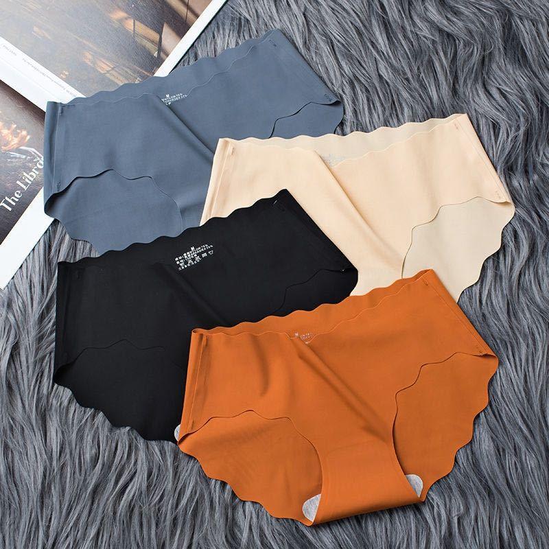 ropa interior sin costuras de algodón atractivo de las mujeres ropa interior de seda de hielo de la entrepierna Tong Tong ku nei nei ku calzoncillos ropa interior de los niños de mitad de la cintura de las mujeres