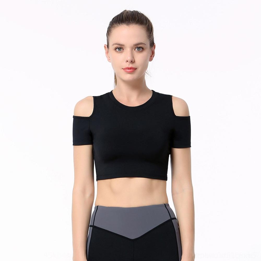 Novas collants de roupas femininas casaco yoga esportes colete de ombro de nylon apertadas calças Vest calças roupas de fitness apertado q7Dkh back-embelezamento