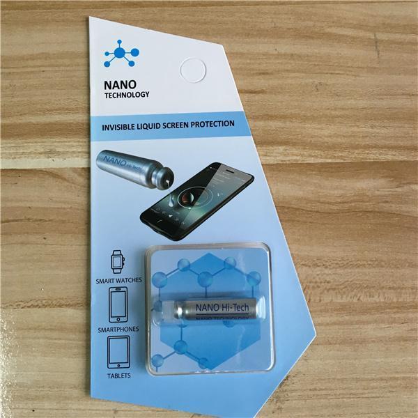 Cgjxs 1 ml Nano Flüssiges Technologie-Schirm-Schutz für Iphone 9 x 7 8 Plus Samsung S9 plus Ipad Air 3d gebogene Kante Full Cover gehärtetes Glas