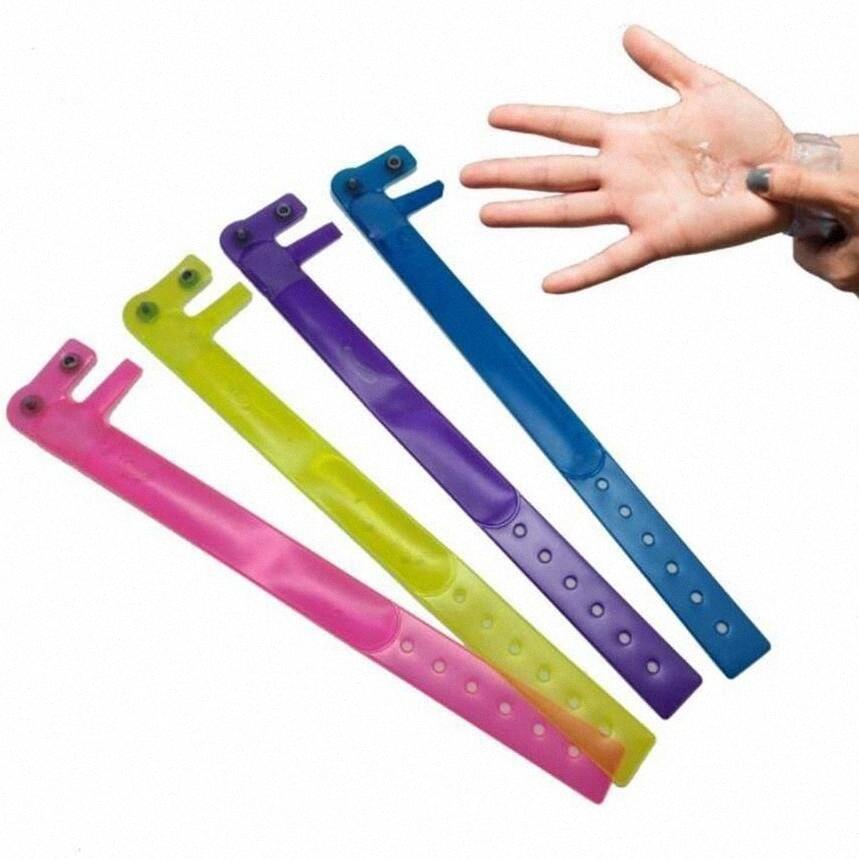 Bracelet désinfectant pour les mains Distributeur pour lavage des mains Distributeur de savon liquide Bracelets Hommes Femmes multi-fonction Wristband DHF694 DHTH #