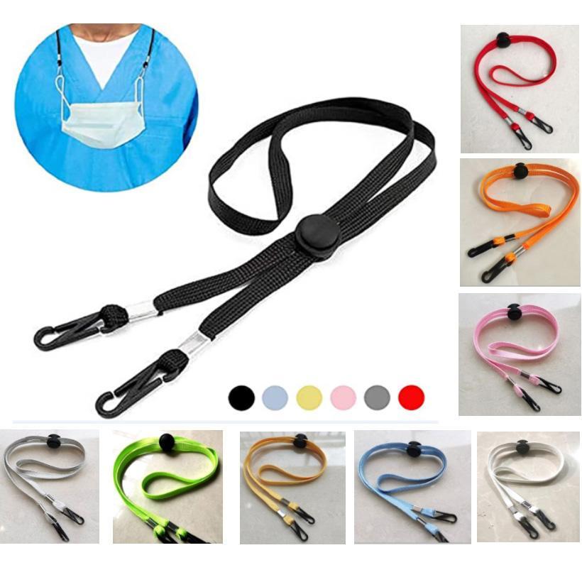 Mask Lanyard Adjustable Length Extender Windproof Mask Rope Comfortable Neck Protection Rest Ear Saver Ear Extender Strap Hat HH9-3290