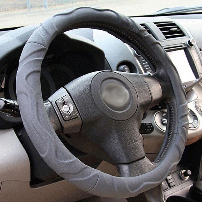 Volante de piel de oveja coche Cubierta de rueda universal del cuero de la venta caliente Marca k4 Q1 x1 x3 x4 moderna ix35 dirección cubierta de la rueda Dc1t #