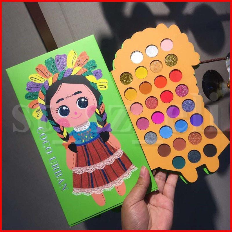 Coco Urban Eye Makeup Natural Eyes Shimmer Glitter Eyeshadow Palette Natural 30 colors Blush Highlighter Matte eye shadow palette