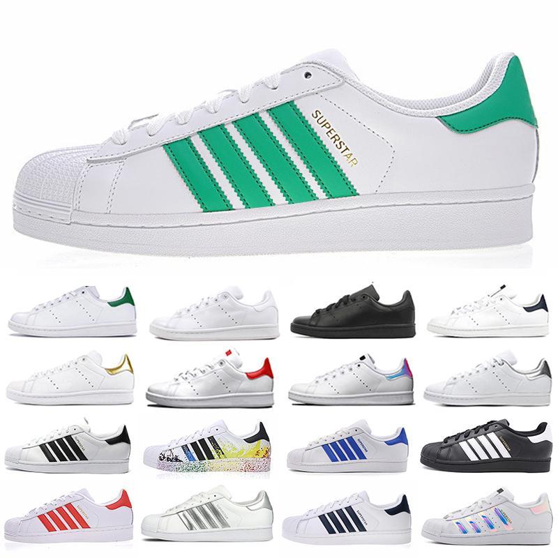 Zapatos ستان سميث سوبر ستار الهولوغرام منصة جلدية الموضة حذاء لوحة-FORME الرجال النساء المدربين الرياضية أحذية رياضية EUR36-45