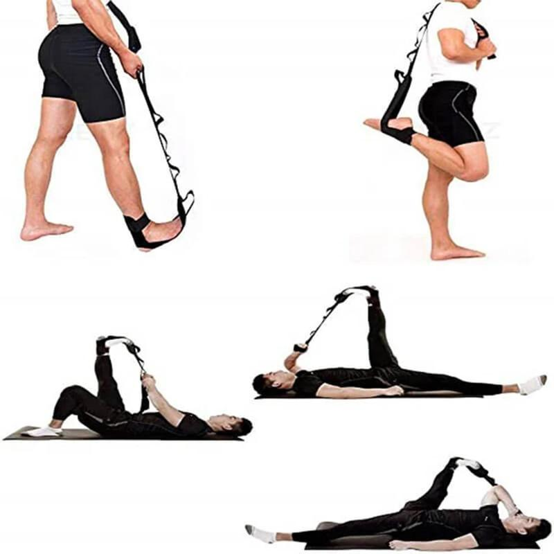 El estiramiento de la correa de yoga Entrenamiento de Rehabilitación correa de la aptitud que estira ejercicio Banda B2Cshop