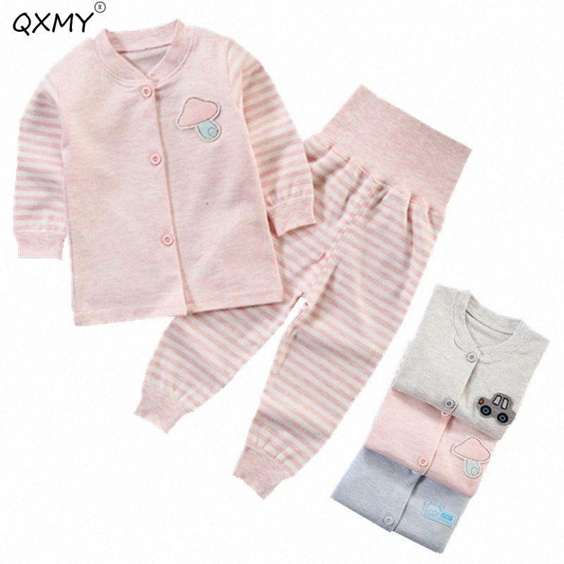 QXMY bebê meninos e meninas Roupa Set infantil traje para recém-nascido Crianças Cotton Brasão + Pants Outfits Suit 2020 Primavera Outono bG7Z #