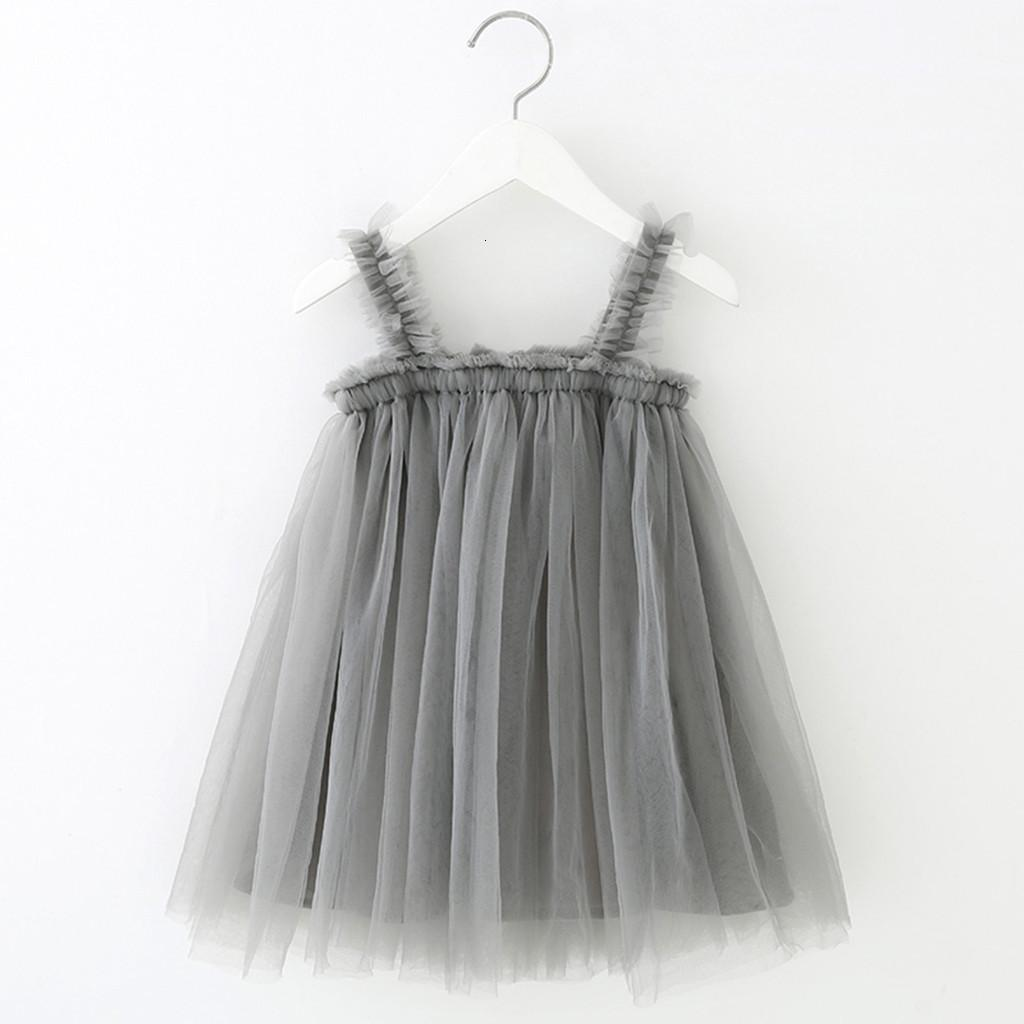 Designer Lace Little Summer Solid Sleeveless Tulle Tutu Dress For girls elegant Princess dresses Clothing Party Pageant 2