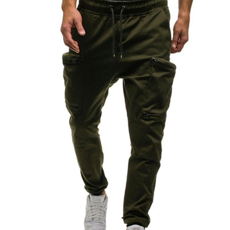 Mens Pants Elastic Waist Trouser Streetwear military Mens joggers sweatpants cargo Pants for men ropa hombre pantalon