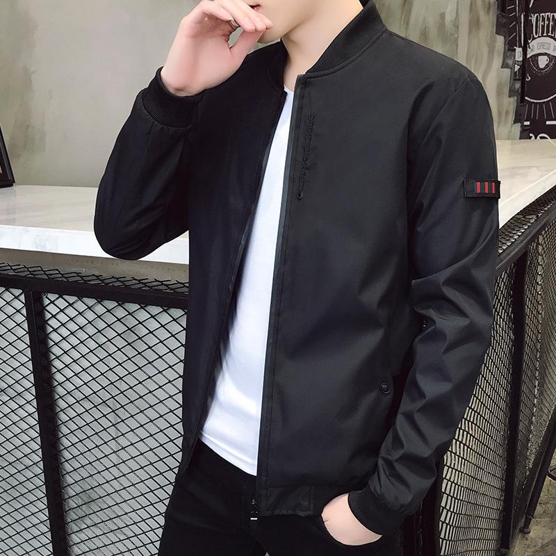 KiGoN Koreli Erkekler yeni giysiler stil ince uygun gündelik pilotu yakışıklı Giyim ince ceket trendi Bahar ceket