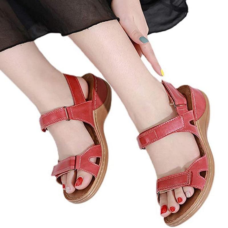 Luxury designer gladiator sandals women black summer causal shoes comfortable genuine leather buckle dr martin platform sandals