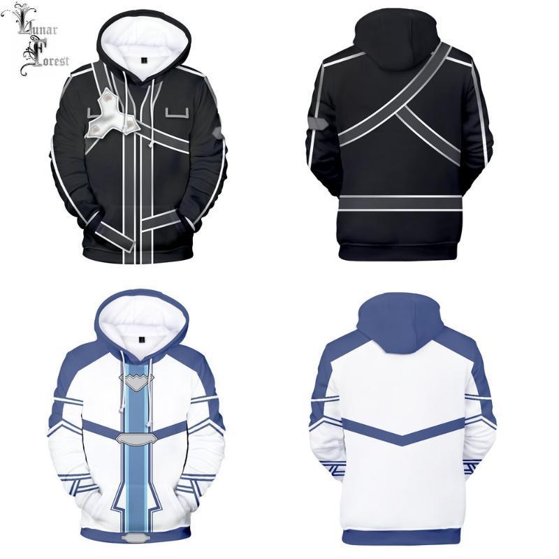 Arte espada línea SAO caracteres en 3D Impresión otoño moda japonesa animado sudaderas con capucha de manga larga pollover más el tamaño