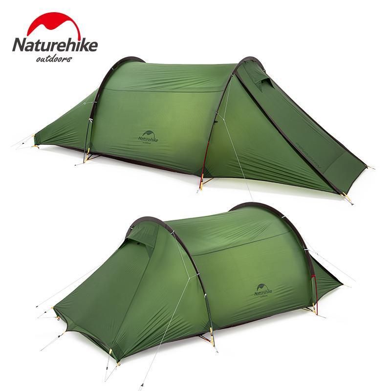 Naturehike 2020 новый Двухполюсной 2 человек туннель палатка палатки кемпинга 20D водонепроницаемый Одна комната 2.6kg Ultralight 4-Season Travel