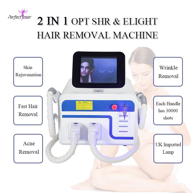 Лазерная эпиляция Удаление устройства SHR OPT волос Elight машина для ухода за кожей Профессиональный IPL Интенсивный импульсный свет
