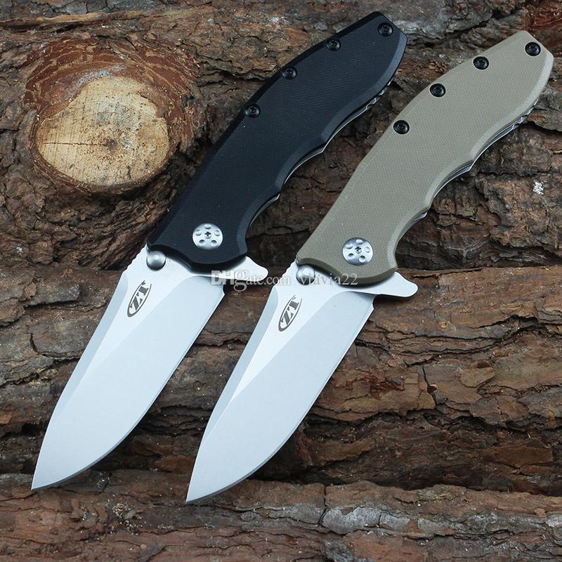 estilo clásico ZT0562 cuchillo plegable 9cr13mov alta dureza navaja de bolsillo de la manija G10 senderismo portátil de la herramienta que acampa